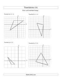 rotation worksheet maths middle pinterest