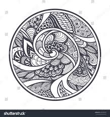 abstract pattern texture zentangle zendoodle style stock vector