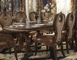 Michael Amini Dining Room Sets The Sovereign Rectangular Double Pedestal Dining Table By Aico