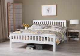 serene amelia 6ft super kingsize white wooden bed frame by serene