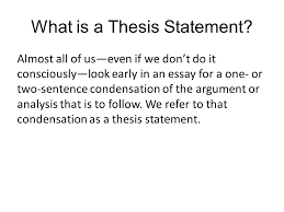 what is the thesis statement the thesis statement notes ppt video online download