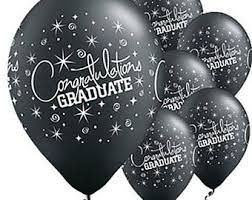 graduation balloons black white gold latex balloons black