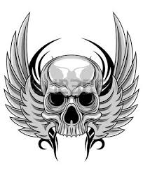 skull with headed eagle royalty free cliparts vectors and