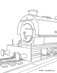 Steam Locomotive Coloring Pages Steam Engine In The Landscape Coloring Pages Hellokids Com by Steam Locomotive Coloring Pages