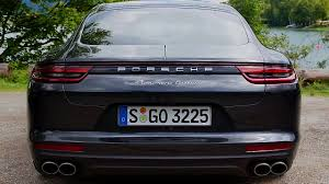 2017 Porsche Panamera Turbo Exterior Design In Black Youtube