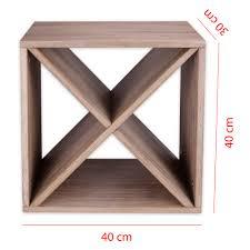 Portavino Ikea by Modern Wine Rack Bottle Shelf Wood Brown 40 X 40 30 Cm Ebay