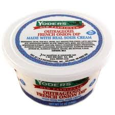 Cottage Cheese Onion Dip by Yoder U0027s Outrageous French Onion Dip 12 Oz Walmart Com