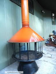 retro mid century modern burnt orange carousel freestanding cone