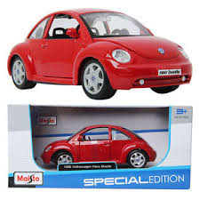 volkswagen mini maisto volkswagen new beetle red 1 25 die cast toy mini car
