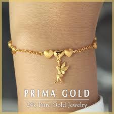ladies gold bracelet design images Prima gold japan rakuten global market pure gold bracelet for jpg