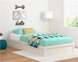 ameriwood furniture twin platform bed frame vintage white