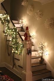 Christmas Banister Garland Christmas Lights At Night Home Tour Kelly Elko