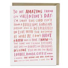 valentines cards amazing single friend card emily mcdowell studio