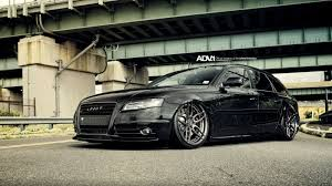 slammed audi wagon slammed all black audi a4 avant on air suspension and adv1 custom