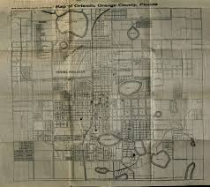 Map Orlando Florida by 1915 Orlando Map From