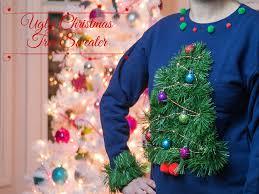 christmas tree christmas sweater christmas lights decoration