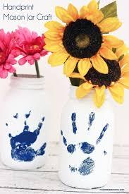 handprint mason jar craft mothers gifts and crafts