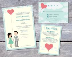 wedding invitation ideas blue wedding invitation templates
