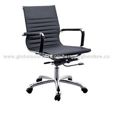 Computer Chair Office Leather Executive Computer Chair Metal Base Castors