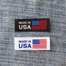 American Flag Picture American Flag Made In Usa Labels Clothing Tag Woven Label