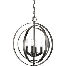 Pendant Light For Entryway Progress Lighting Equinox Collection 4 Light Antique Bronze Orb