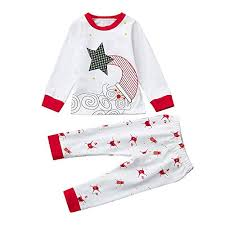 2018 Clearance Kids Christmas Party Outfits Set PajamaToddler Baby
