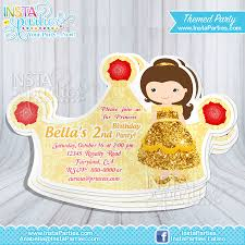 snow white party invitations princess crown princess cut out