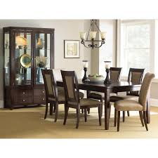 wilson contemporary dining set extension table espresso finish