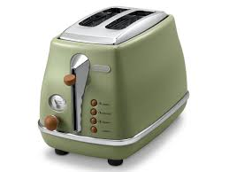 Two Slice Toaster Reviews Vintage Icona Green 2 Slice Toaster Delonghi New Zealand Toasters