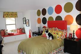 Teenage Bedroom Paint Ideas Little Girls Bedroom Paint Ideas Cool Colorful Square Pattern Wall