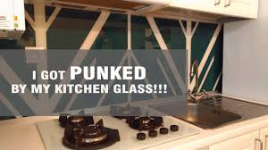 kitchen glass backsplash kitchen glass backsplash disaster kitchen reveal youtube