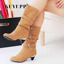 s boots plus size calf aliexpress com buy mid calf boots autumn winter shoes high