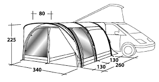Outwell Country Road Awning Outwell Hollywood Freeway Motorhome Awning