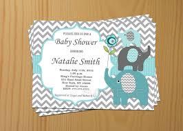 baby shower invitation boy elephant baby shower invitation