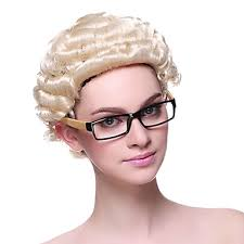 long curly hair style for lawyer capless synthetic blonde short curly lawyer s hair wigs hair wigs