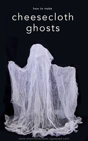 find joy in the journey cheesecloth ghosts