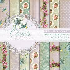 Shabby Chic Purple by Violets And Birds Digital Paper Pack Instant Download Shabby Chic
