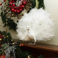 White Peacock Christmas Decorations Uk by 15