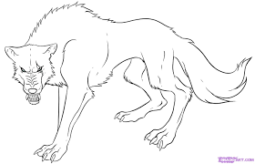 17 images of anime werewolf coloring pages how to draw anime
