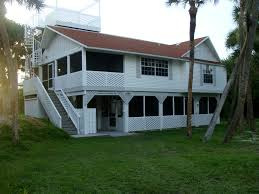 luxury beach house on a tropical island in southwest florida