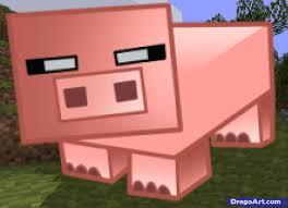 draw minecraft pig draw drawings