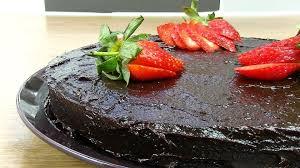 healthy chocolate cake recipe vegan paleo chocolate cake youtube