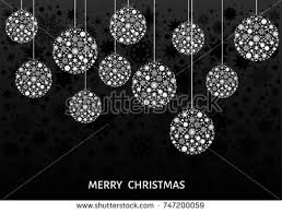 balls white tree decoration stock vector 747200059