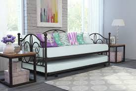 Espresso Twin Bed With Trundle Dhp Furniture Bombay Metal Twin Size Daybed U0026 Twin Size Trundle