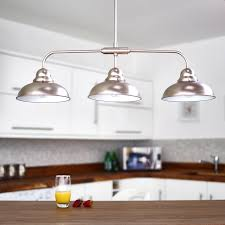 3 Light Kitchen Island Pendant by Brilliant Triple Pendant Chrome Kitchen Island Light Bazz Glam