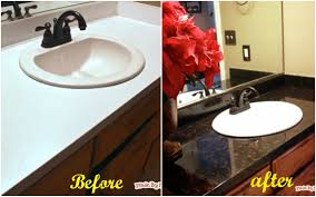 paint formica bathroom cabinets how to faux paint laminate countertop into granite