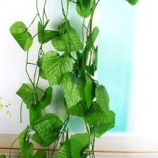 2017 bag long artificial plants green ivy leaves artificial grape