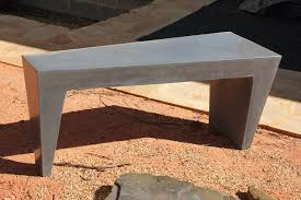 Concrete Table And Benches Bench Custom Concrete Benches Make A Concrete And Wood Bench