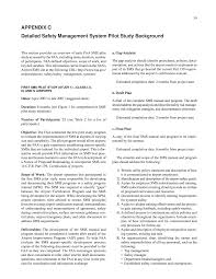 lessons learnt report template appendix c detailed safety management system pilot study page 59