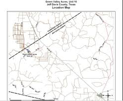 Van Texas Map 10 Acres In Jeff Davis County Texas